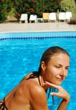 Near pool Royalty Free Stock Image