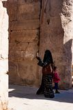 Near the ruins in luxor, Egypt royalty free stock image