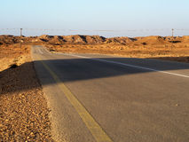 Near Shuwaymiyah, Oman. Road to a new viewpoint near Shuwaymiyah, Dhofar region, Sultanate of Oman Royalty Free Stock Photos