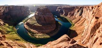 Near sida Arizona för Grand Canyon hästskokrökning arkivfoton