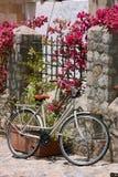 Near staket för cykel Arkivfoton