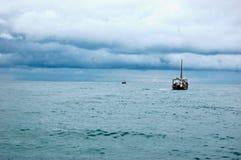 Near storm för fartyg Fotografering för Bildbyråer