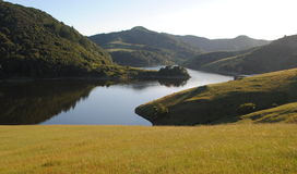 Near Sunset on Soulajule. Beautiful Soulajule Reservoir in Marin County, California. Just a short drive from the vineyards of Sonoma County Royalty Free Stock Photography
