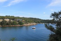 Discovery Manly island Sydney Australia. Near Sydney along the way in the national park Stock Images