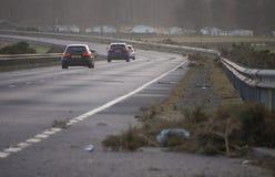 Storm tears through Northern Scotland stock photos