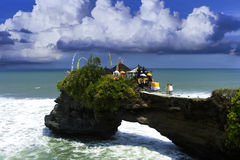 Near Tanah Lot. Royalty Free Stock Images