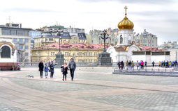 Near Temple of Christ the Savior Royalty Free Stock Photography