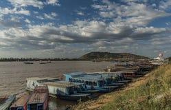 Near Tonle Sap lake in Cambodia Royalty Free Stock Images