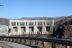 Parker Dam holding back the Colorado River royalty free stock images