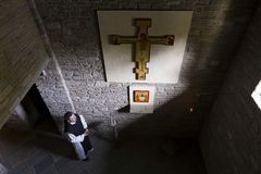 Dominus Tecum Monastery - Pra`d mill. Near Turin a Cistercense`s seclusion monastery open his spirituality to the pillgrims Stock Image