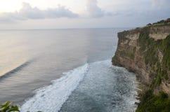 Near the Uluwatu temple. Cliffs near Uluwatu temple  in Bali, Indonesia Royalty Free Stock Photography