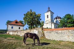 Near the walls of Capriana Monastery, Moldova Royalty Free Stock Image