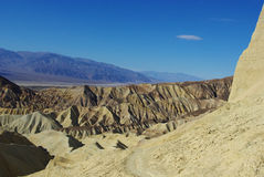 Near Zabriskie Point, Death Valley, California. Hiking trail near Zabriskie Point, Death Valley, California Royalty Free Stock Images