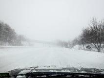 Near-Zero Visibility on New Jersey Roads Royalty Free Stock Photos