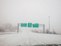Near-Zero Visibility on New Jersey Roads Stock Images