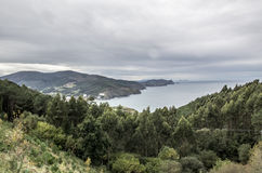 Nearby Bakio on the coast of Biscay Royalty Free Stock Photos