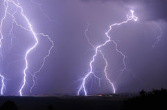 Nearby lightning during a storm Stock Image