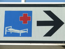 Nearest hospital Royalty Free Stock Images