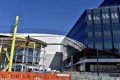 Nearly completed Golden State Warriors new home, 8. royalty free stock images
