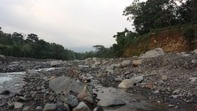 Nearly dried out Guatemalan river. Guatemalan river dried out Stock Photography