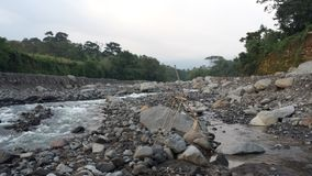 Nearly dried out Guatemalan river. Guatemalan river dried out Stock Image