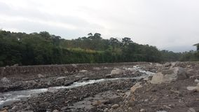 Nearly dried out Guatemalan river. Guatemalan river dried out Royalty Free Stock Photography