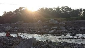 Nearly dried out Guatemalan river Royalty Free Stock Photography