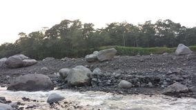 Nearly dried out Guatemalan river Stock Photography