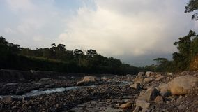 Nearly dried out Guatemalan river Royalty Free Stock Image