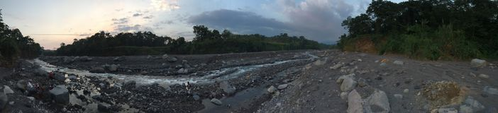 Nearly dried out Guatemalan river. Guatemalan river dried out Stock Photo
