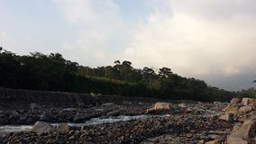 Nearly dried out Guatemalan river. Guatemalan river dried out Royalty Free Stock Image