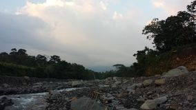 Nearly dried out Guatemalan river. Guatemalan river dried out Royalty Free Stock Photos