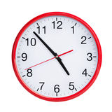 Nearly five on round clock face Royalty Free Stock Image
