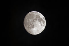 Nearly full moon Stock Photo