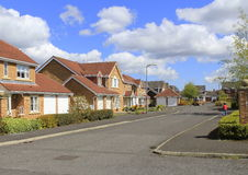 Nearly new detached houses stock image