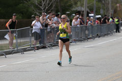 Nearly 30000 runners participated in the Boston Marathon on April 17, 2017 in Boston Royalty Free Stock Photography