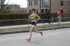 Nearly 30000 runners participated in the Boston Marathon on April 17, 2017 in Boston Royalty Free Stock Photos