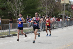 Nearly 30000 runners participated in the Boston Marathon on April 17, 2017 in Boston Stock Photo