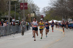 Nearly 30000 runners participated in the Boston Marathon on April 17, 2017 in Boston Stock Photography