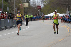Nearly 30000 runners participated in the Boston Marathon on April 17, 2017 in Boston Stock Photos