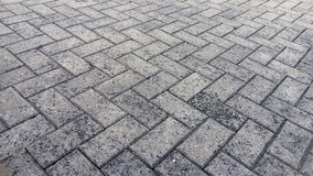 Neat Brick. A neat brick on the street Royalty Free Stock Photos