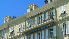 Neat building, hotel in tropical country, rent of apartment, residential area. Stock photo royalty free stock photo
