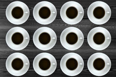 A neat coffee plate. A regular background picture Stock Photography
