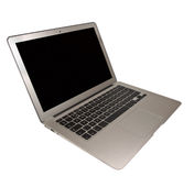 Modern Slim Laptop  on White Background Royalty Free Stock Photography