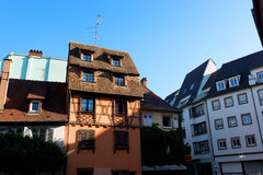 Neat Houses of Strasbourg Royalty Free Stock Photo