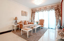 Neat living room. Eastphoto, tukuchina, Neat living room, Indoor Environment Stock Images