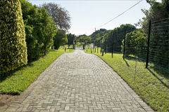 Neat paved driveway stock images