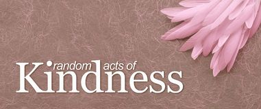 Angelic Random Acts of Kindness Pink Feather Background royalty free illustration