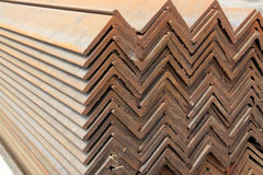 Neat rows of Angle steel Stock Photos