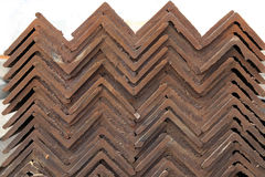Neat rows of Angle steel Royalty Free Stock Images
